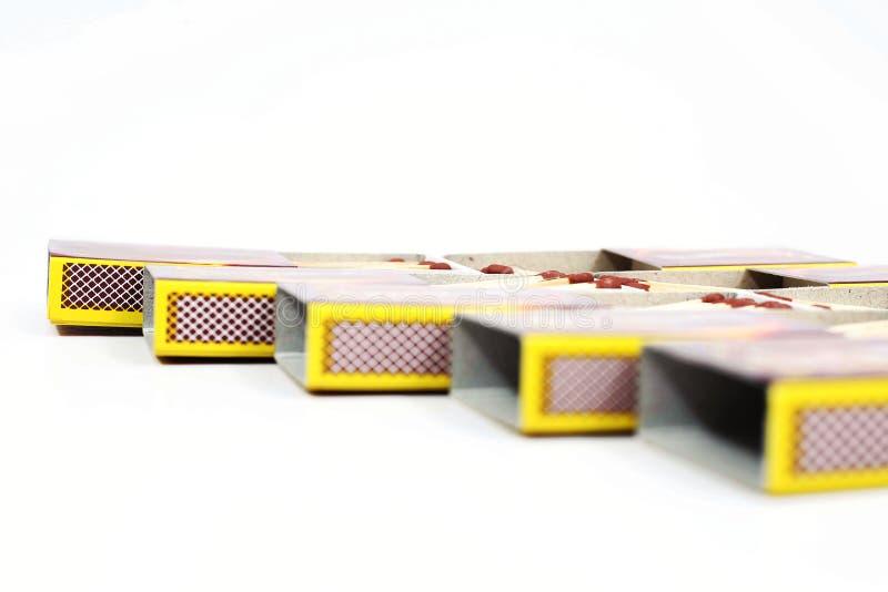 Bild der Streichholzschachtel stockfotografie