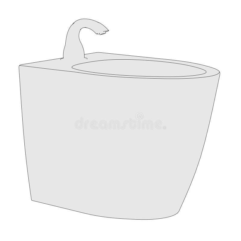 Bild des Bidets (Badezimmerelement) stock abbildung
