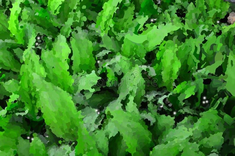 Bild des grünen Hintergrundes von den Blättern von Maiglöckchen Lat Convallaria majalis stockbilder