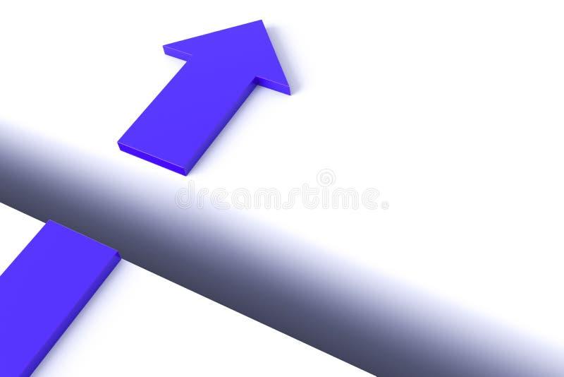 Bild des Pfeiles über der Nut stock abbildung