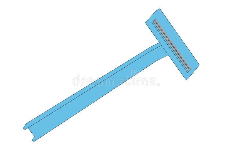 Bild des Rasierens des Blattes vektor abbildung