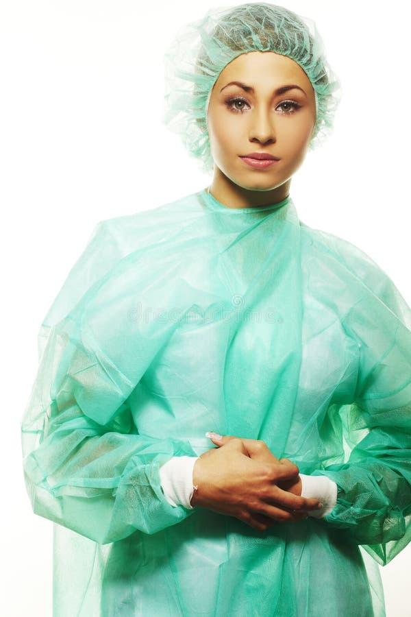 Bild des schönen weiblichen Chirurgen lizenzfreie stockfotos