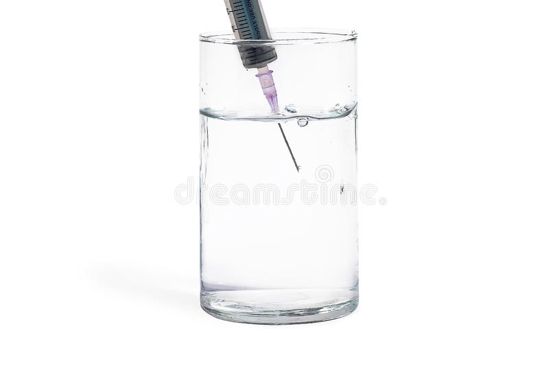 Bild des transparenten Glases stockbild