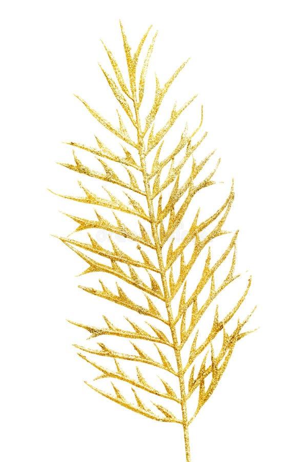 Bild eines Goldunterschiedlichen Zweigs. lizenzfreie stockfotografie