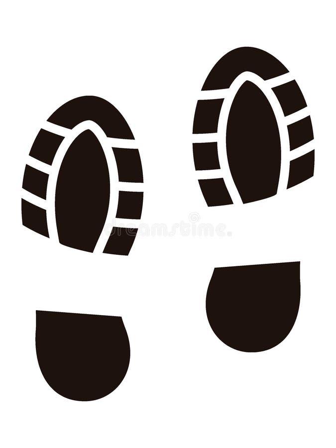 Bild eines menschlichen Schuh-Abdruckes lizenzfreie abbildung