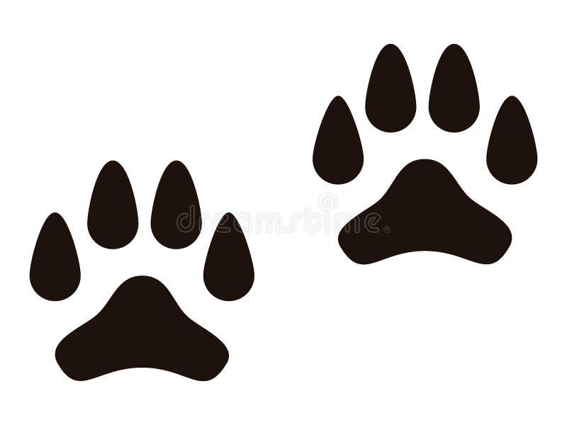 Bild eines Tierabdruckes lizenzfreie abbildung