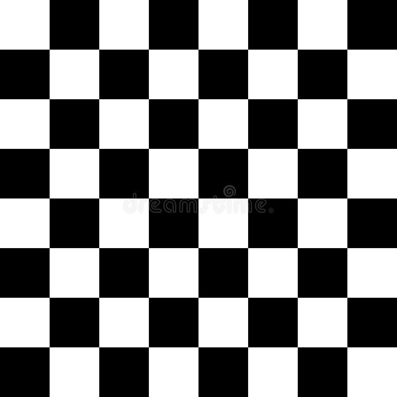 Bild eines vierundsechzig Schachbrettes für das Spielen des Schachs, der Kontrolleure, des usw. , stock abbildung