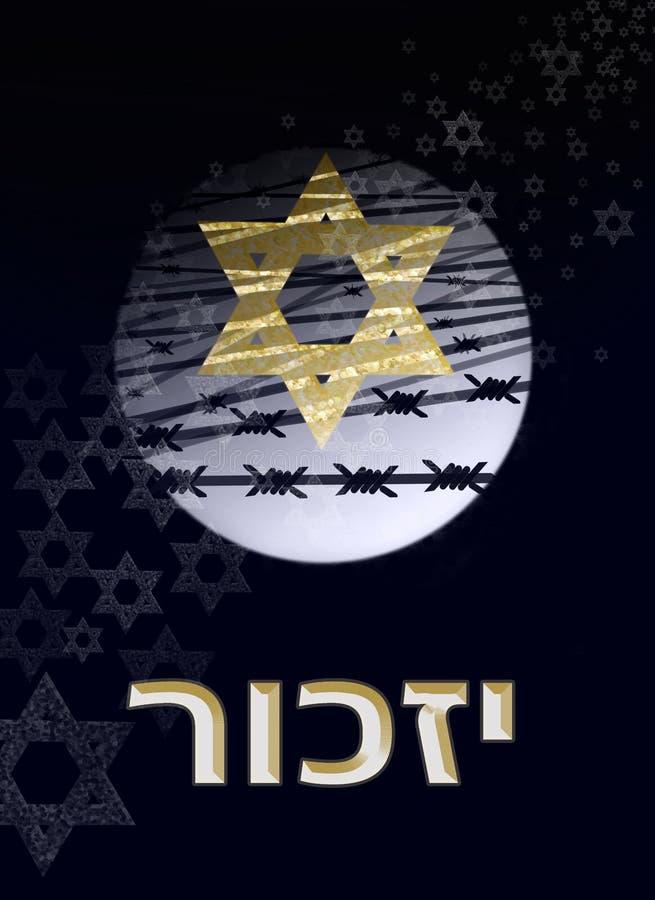 Bild eingeweiht dem Holocaust stock abbildung