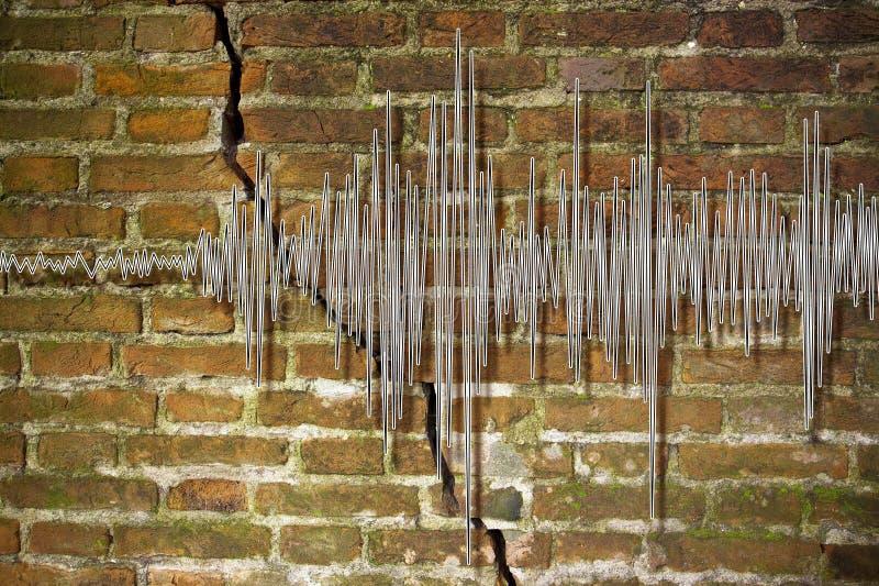 Bild för begrepp för jordskalvvåggraf royaltyfri bild