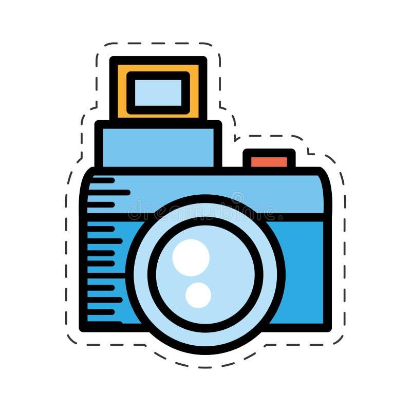 bild för bild för tecknad filmfotokamera stock illustrationer