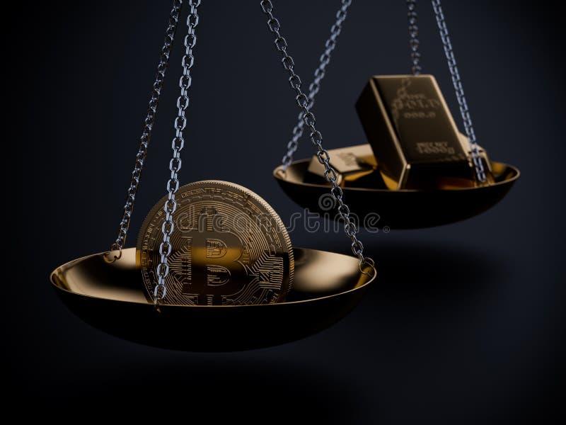 Bild för Bitcoin prisbegrepp vektor illustrationer