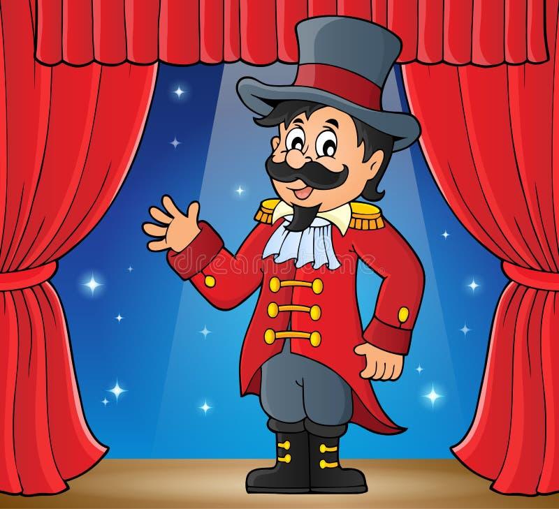 Bild för cirkuscirkusdirektörtema royaltyfri illustrationer