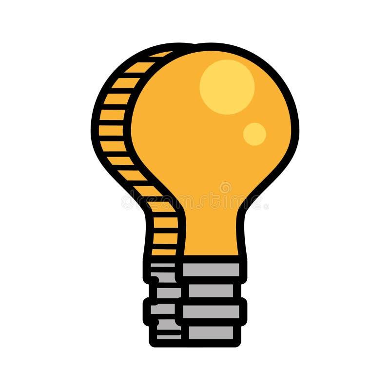 bild för elektricitet för kulaljus stock illustrationer