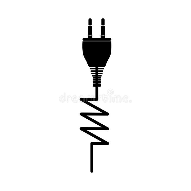 Bild för elektricitetsproppsymbol stock illustrationer