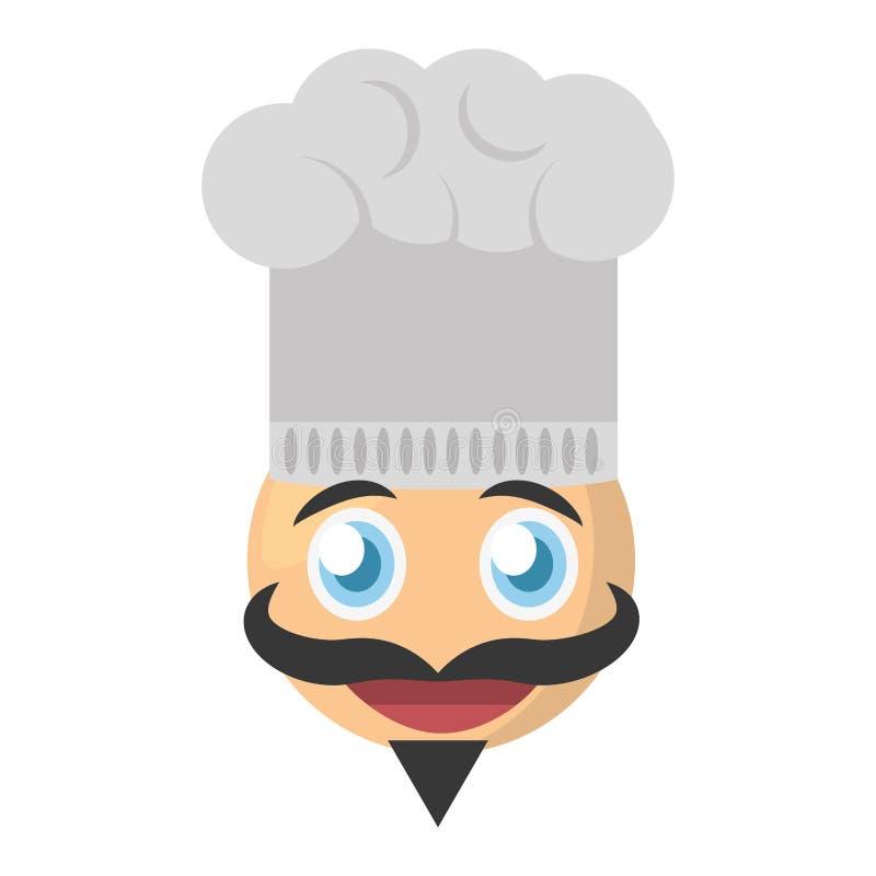 bild för emojikockuttryck royaltyfri illustrationer