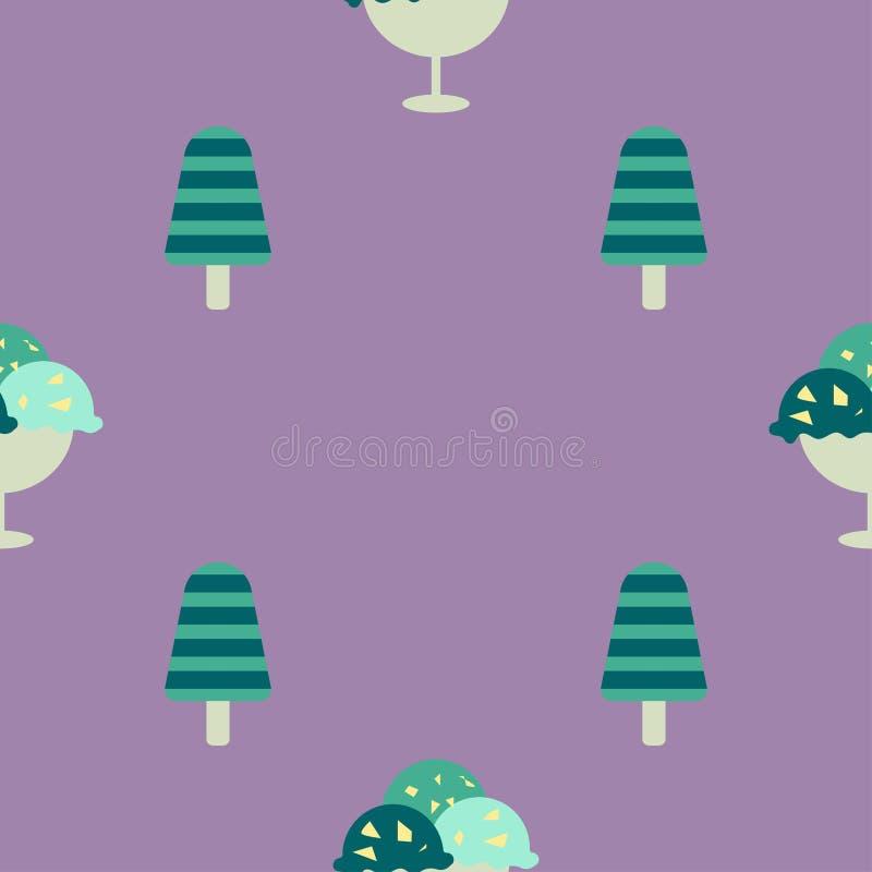 bild för is för bakgrundsclosekräm upp royaltyfri illustrationer