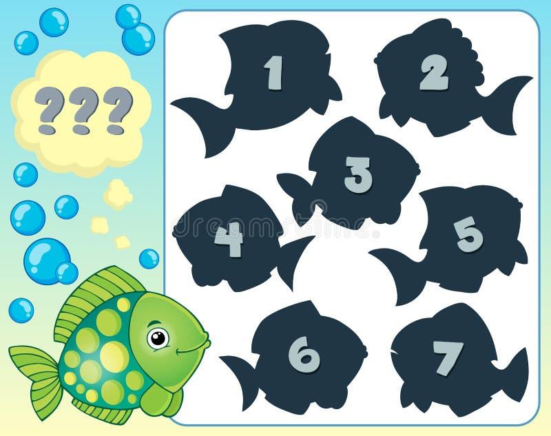Bild 2 för fiskgåtatema vektor illustrationer
