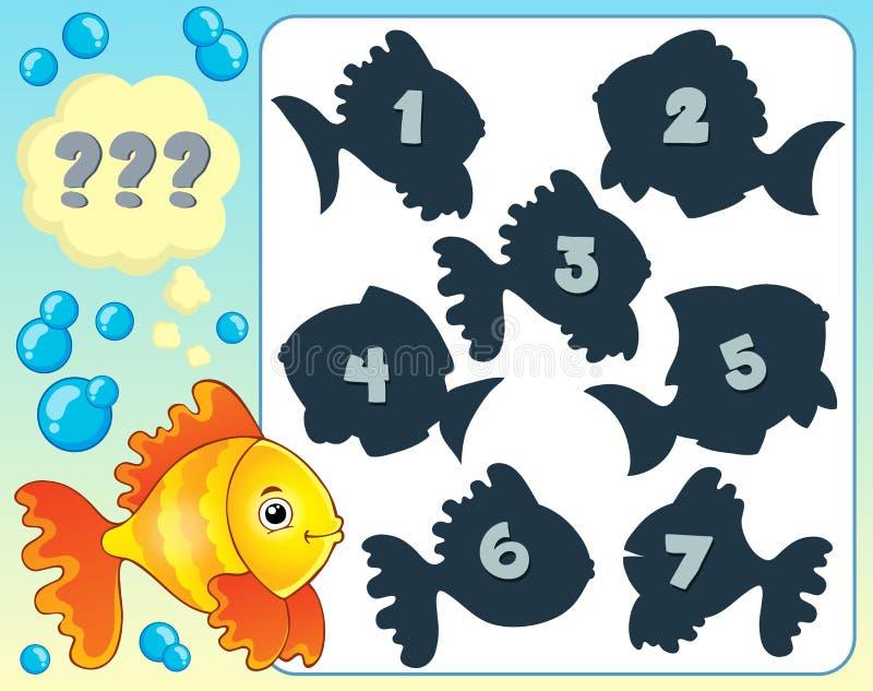 Bild 4 för fiskgåtatema vektor illustrationer