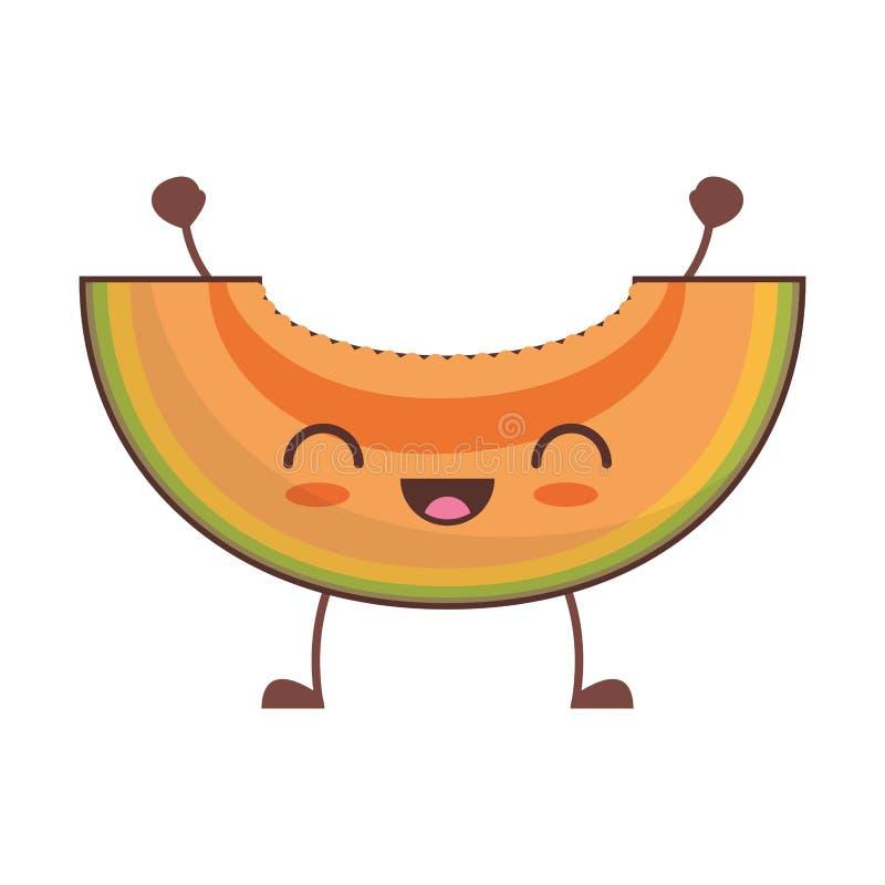 bild för kawaiipapayafrukt vektor illustrationer