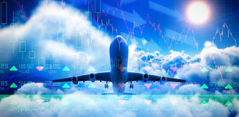 Bild för komposit 3d av det grafiska flygplanet vektor illustrationer