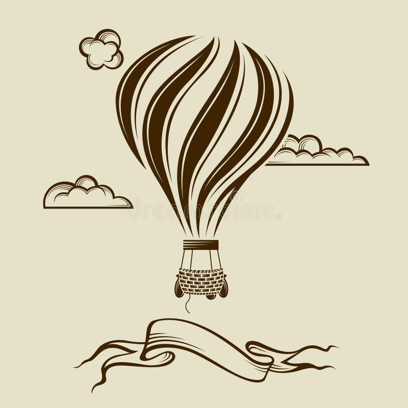 Bild för luftballong royaltyfri illustrationer