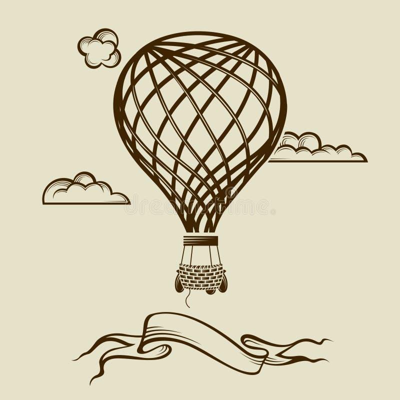 Bild för luftballong stock illustrationer