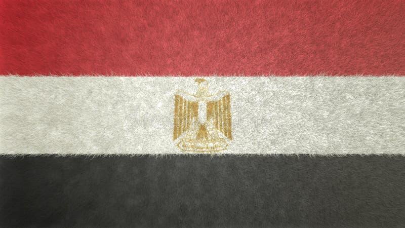 Bild för original 3D av flaggan av Egypten stock illustrationer