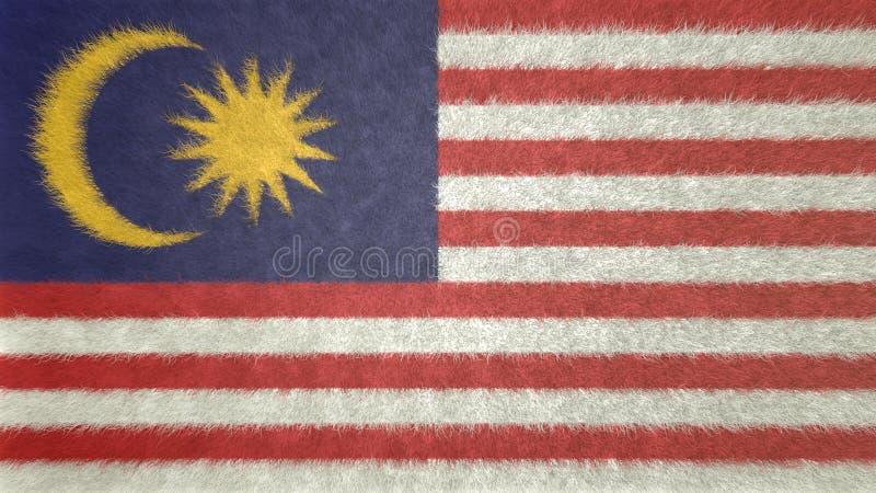 Bild för original 3D av flaggan av Malaysia royaltyfri illustrationer