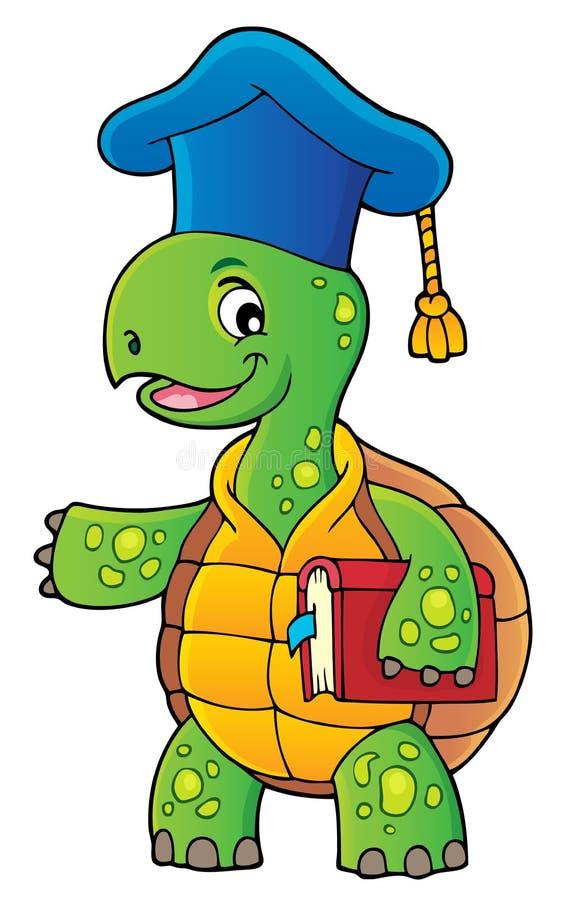 Bild 1 för sköldpaddaläraretema royaltyfri illustrationer