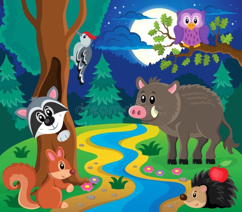 Bild 7 för skogdjurämne stock illustrationer