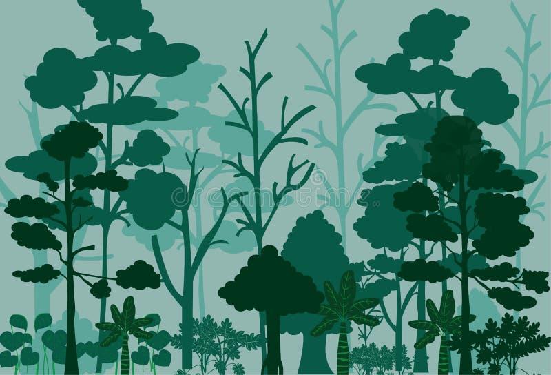 Bild för skoglandskapvektor vektor illustrationer