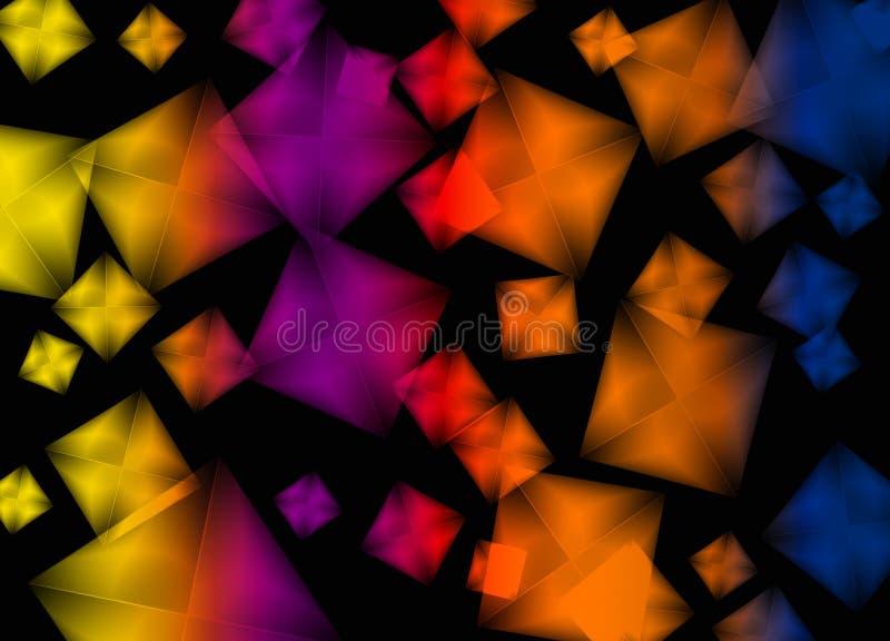 Bild för stil för bakgrund för regnbågekubstil royaltyfri illustrationer