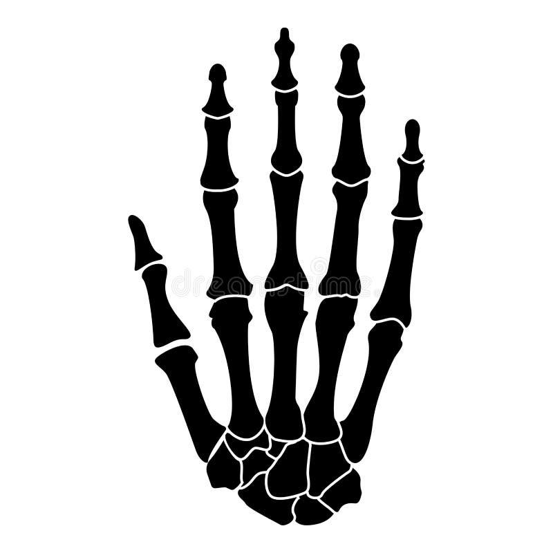 Bild för stil för lägenhet för illustration för färg för svart för symbol för handben enkel vektor illustrationer