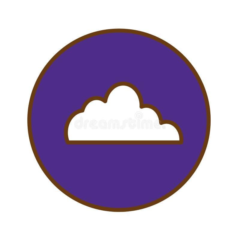 bild för symbol för molnlagringsknapp summarisk royaltyfri illustrationer