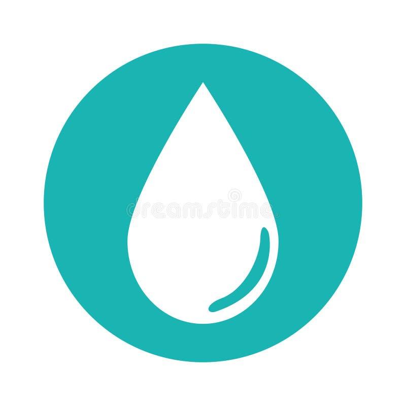 Bild för symbol för vattenliten droppe stock illustrationer