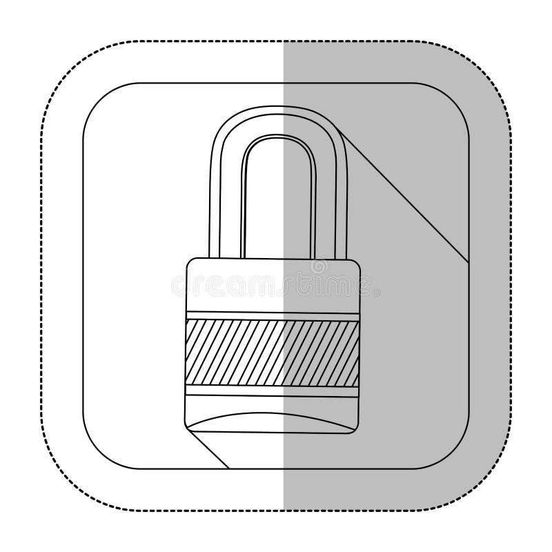 bild för symbolhänglåssymbol stock illustrationer