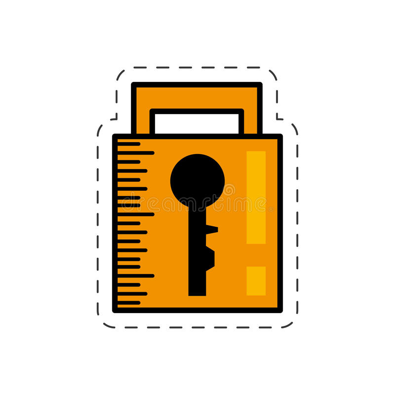 bild för system för tecknad filmhänglåssäkerhet vektor illustrationer
