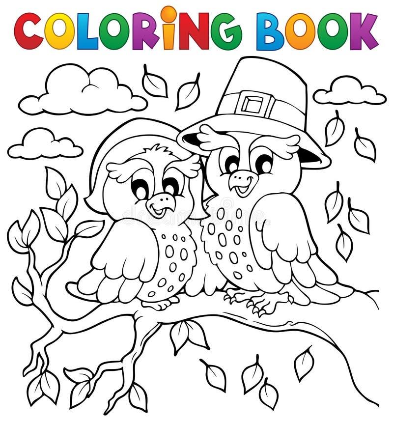 Bild 5 för tacksägelse för färgläggningbok vektor illustrationer