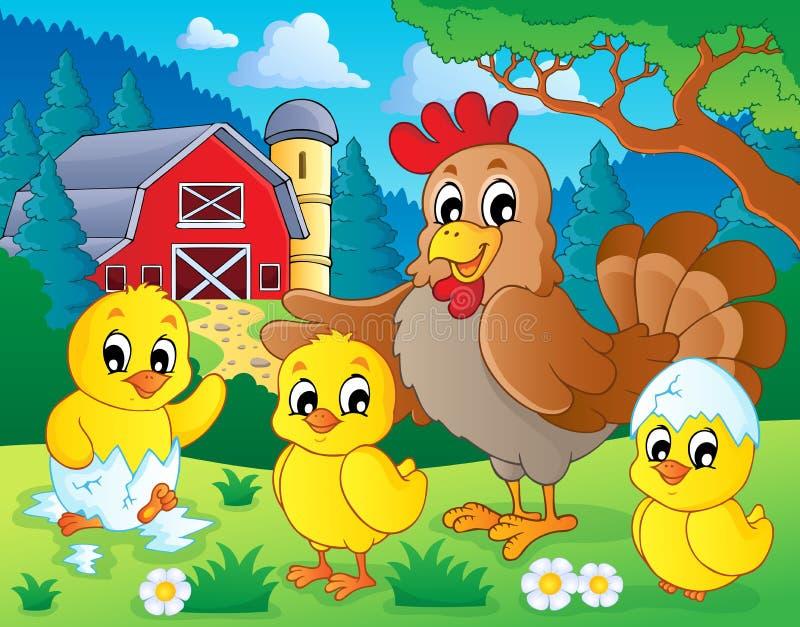 Bild 7 för tema för lantgårddjur vektor illustrationer
