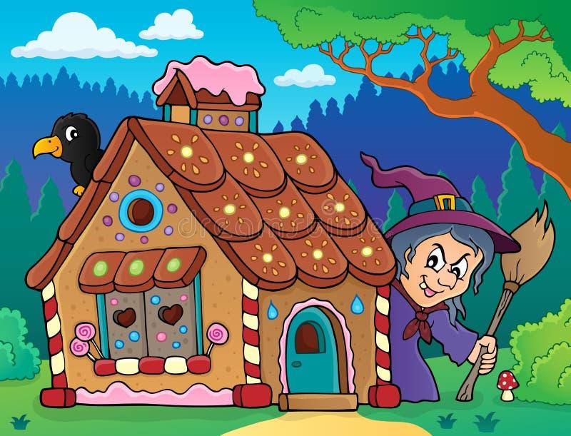 Bild 3 för tema för pepparkakahus stock illustrationer