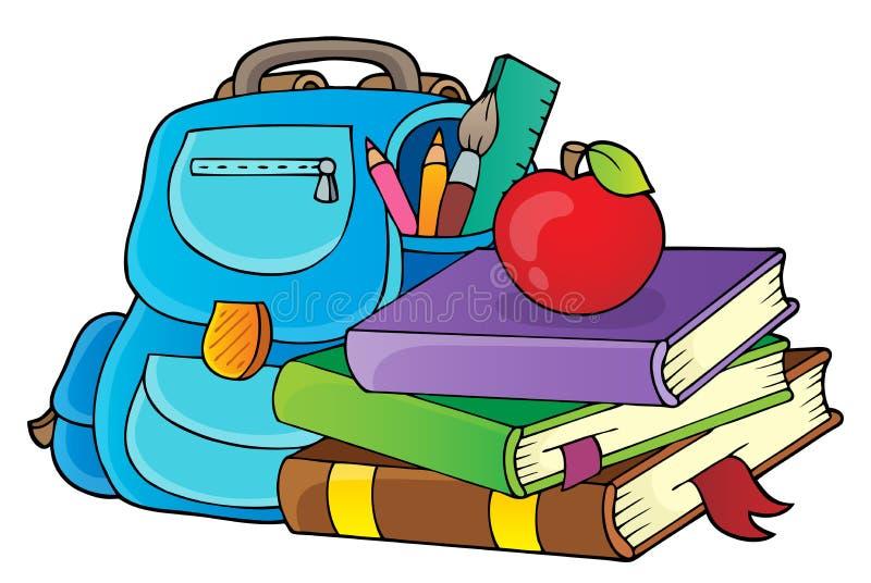 Bild 1 för tema för skolautrustning stock illustrationer