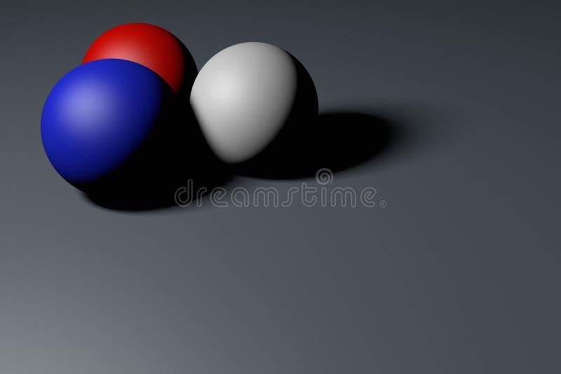 bild för tolkning 3d av färgrika 3 bollar Abstrakt tapet och bakgrund vektor illustrationer
