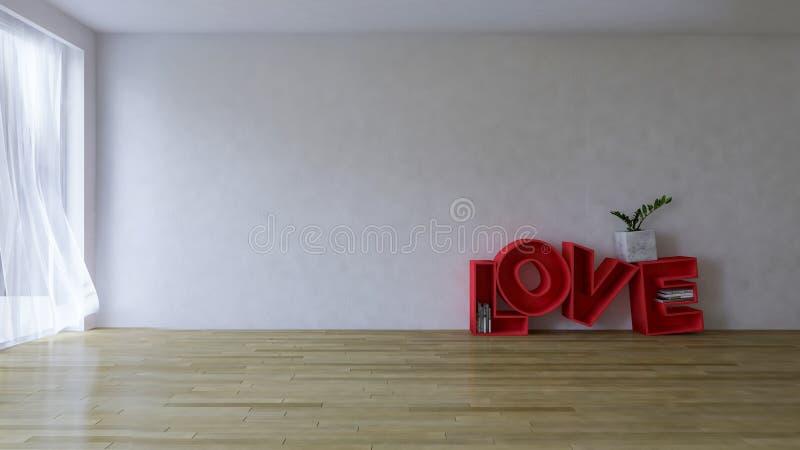 bild för tolkning 3d av vardagsrum för inredesign stock illustrationer