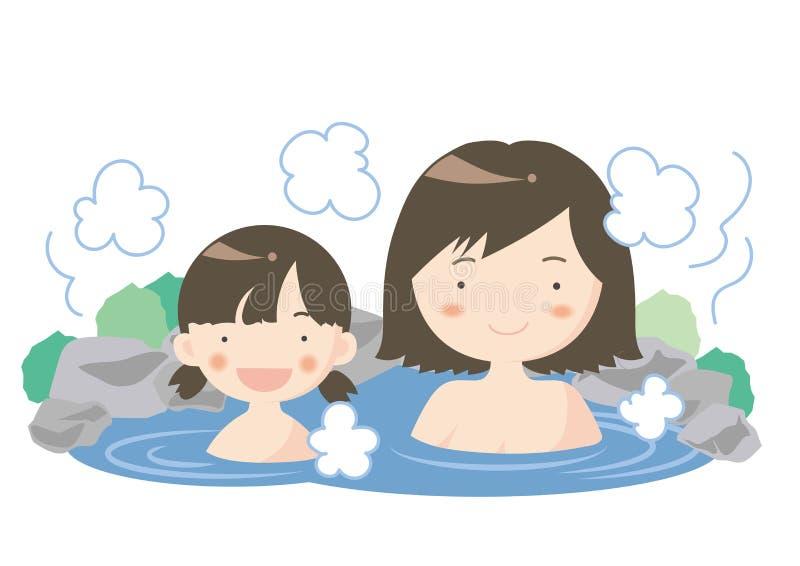 Bild för varm vår - förälder och barn stock illustrationer