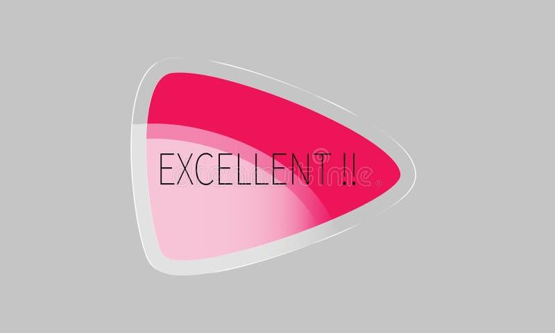 Bild för vektor för baner för etikett för etikett för kortanmärkningsklistermärke med ordet, modern stil för illustrationdesigndi stock illustrationer
