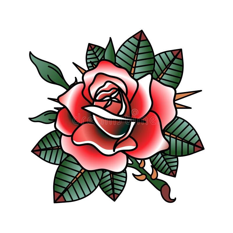 Bild för vektor för blommatatueringdesign stock illustrationer