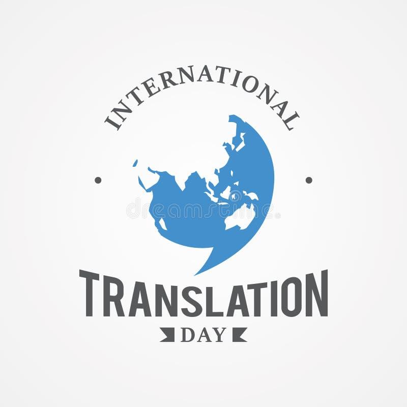 Bild för vektor för dag för översättning för designemblem internationell vektor illustrationer