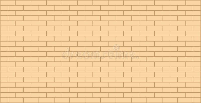 Bild för vektor för grafisk design för textur för guling för tegelstenvägg beige royaltyfri illustrationer