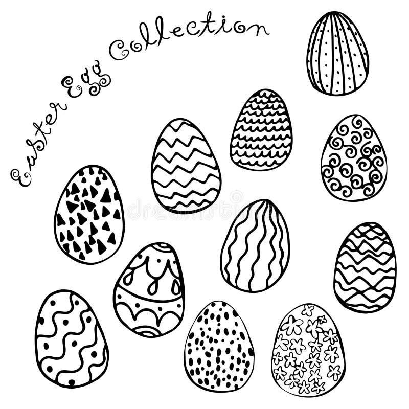 Bild för vektor för samling för påskägg vektor illustrationer