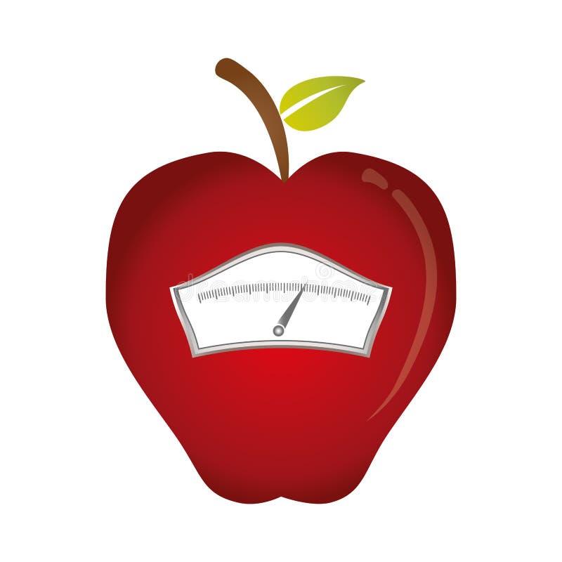 Bild för viktskalasymbol stock illustrationer
